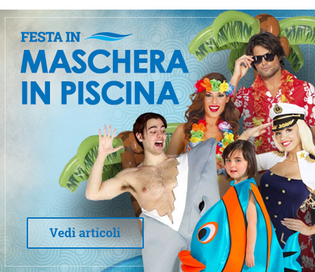Party in maschera a bordo piscina