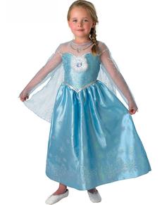 Costume Elsa Deluxe Frozen - Il regno di ghiaccio da bambina