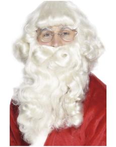 Barba di Babbo Natale lusso bianca