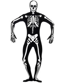 Costume scheletro che brilla al buio seconda pelle