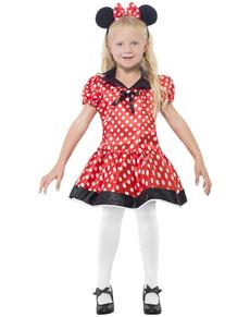 Costume topina carina da bambina