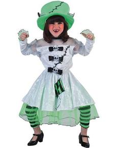 Costume da sposa Frankenstein da bambina