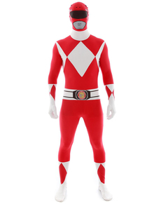 Costume Power Ranger Rosso Morphsuit