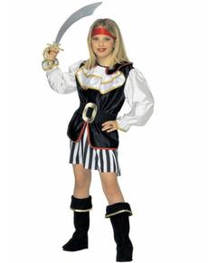 Costume da pirata birbante per bambina