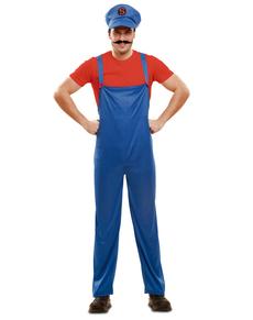 Costume da idraulico eroe per uomo