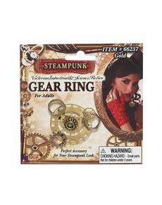 Anello Steampunk ingranaggio per donna