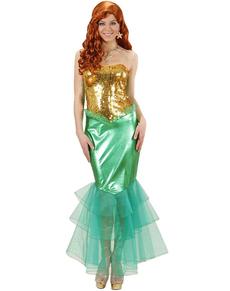 Costume da sirenetta brillante per donna