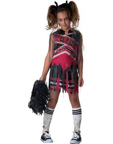 Costume da cheerleader tenebrosa per bambina