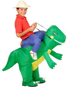 Costume da cavaliere sul dinosauro per bambino