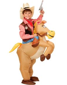Costume da Cowboy a cavallo gonfiabile per bambino